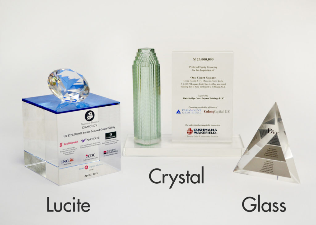 DealGifts - Materials - Lucite Crystal Glass